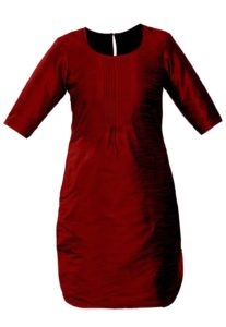 silk-kurta-wine