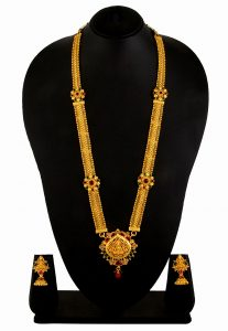 Necklace Set With Temple Motifs