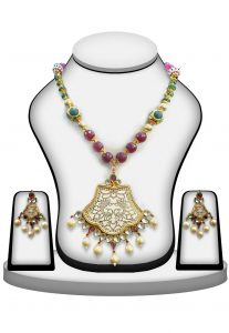 Thewa Necklace Set in Multicolor