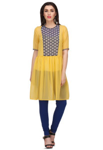 yellow-short-kurta