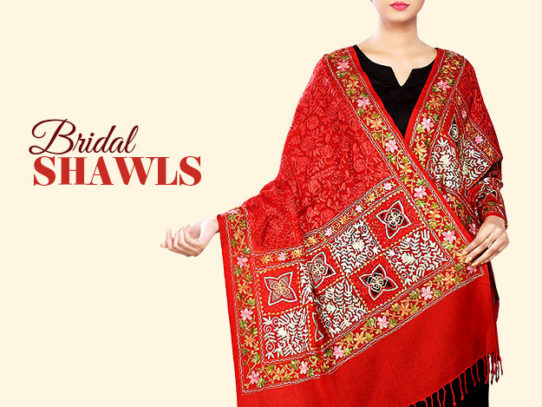 Bridal Shawls & Stoles For Winter Weddings