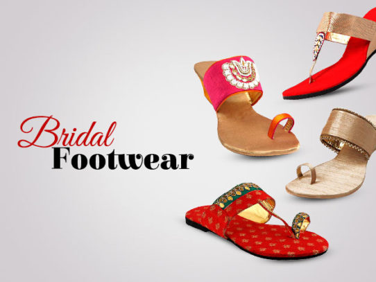 682818ff6d535d Indian bridal footwear - Designs for Brides   Bridesmaid
