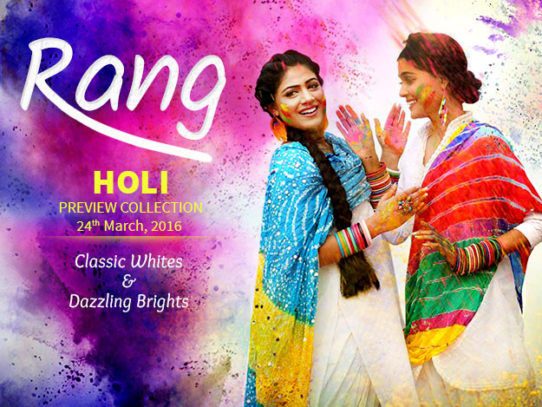 Holi Preview Collection 2016: Classic Whites & Dazzling Brights